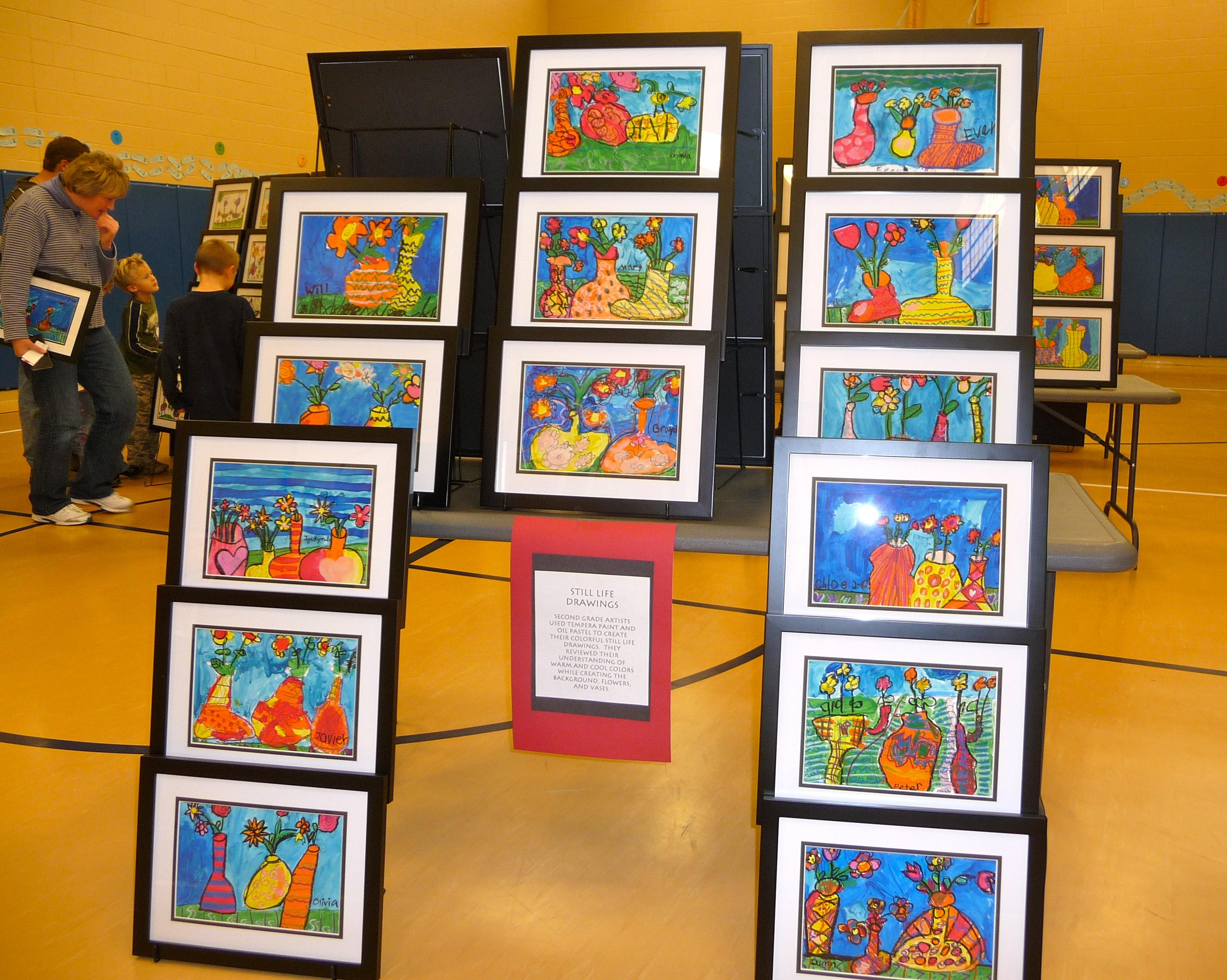 Kids Art Fair – A Great Night!   Georgetown Elementary Art Blog