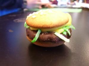 hamburger cookie