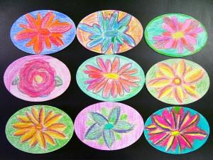 5th Grade O'Keeffe Flowers
