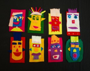 Grade 4 2010 Permanent Collection Felt Masks