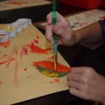 Leaf Printing-3rd Grade