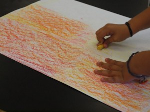 Third Grade texture rubbings