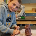 Fifth Grade Clay Trees