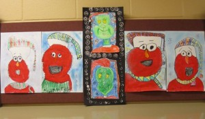 First Grade Elmos & 2nd Grade Grinches