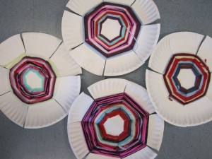 Paper Plate Weaving-third grade