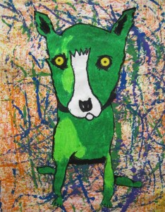Third Grade Green Dog