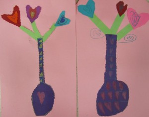 Kindergarten Heart Flowers