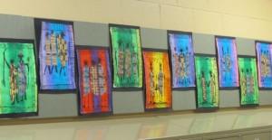 third grade hallway art