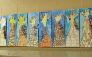 second grade hallway art