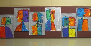 first grade hallway art