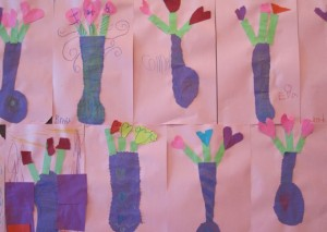 kindergarten hallway art