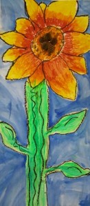 second grade sunflowers