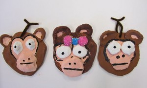 2nd Grade Clay Monkeys