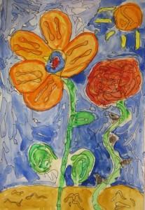 5th Grade Glue Flower