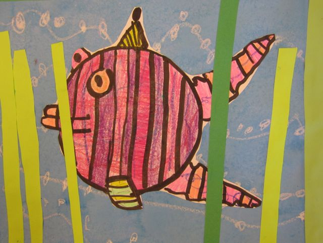 First Grade Artists Continued Exploring Pattern And Got To Do A Little Painting As They Created These Fun Fish Found Out That Is Pretty