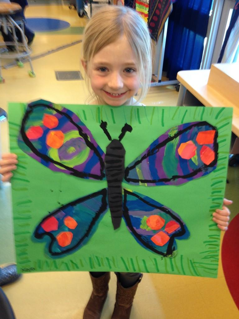 kindergarten butterflies georgetown elementary art blog