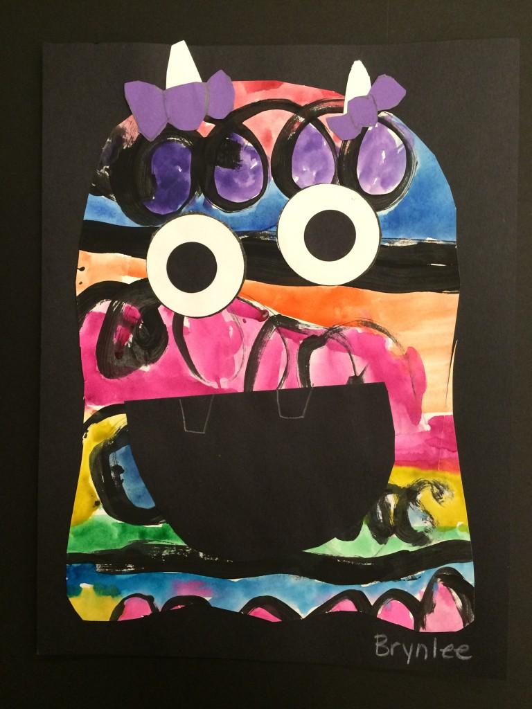 kindergarten line monsters georgetown elementary art blog