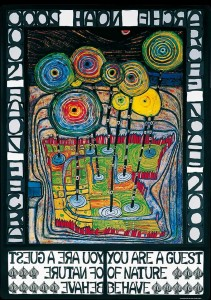 hundertwasser-you-are-a-guest-of-nature-behave