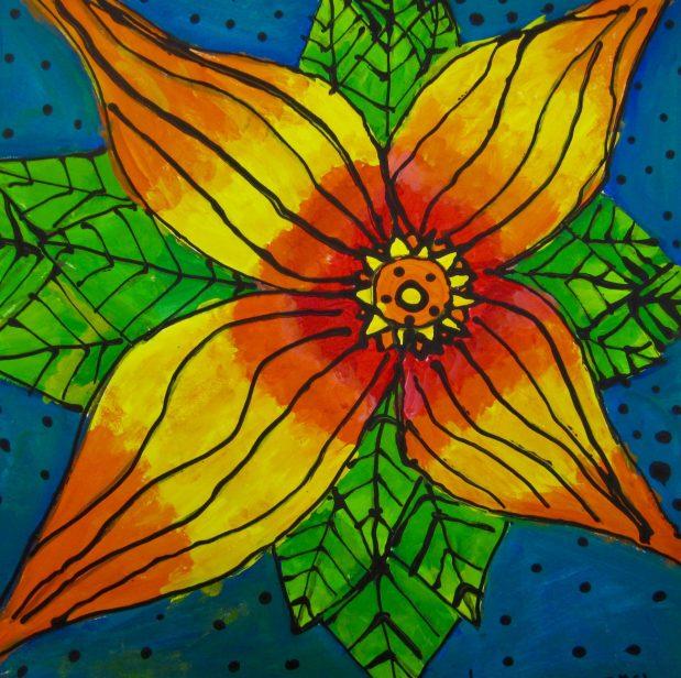 Fifth Grade O'Keeffe Flowers